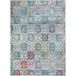 Photo of benuta Trends carpet Avola beige / blue 140×190 cm – vintage carpet in used look