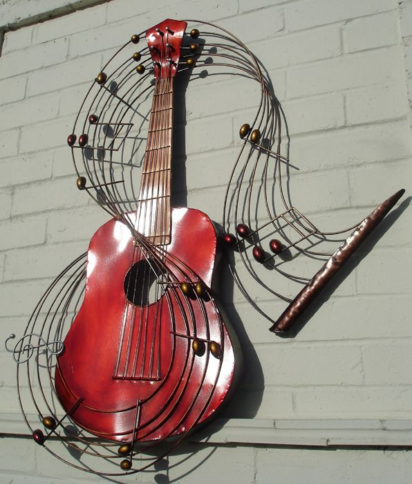 Oh i love this one but it should be another guitar. : metal wall art guitar - www.pureclipart.com