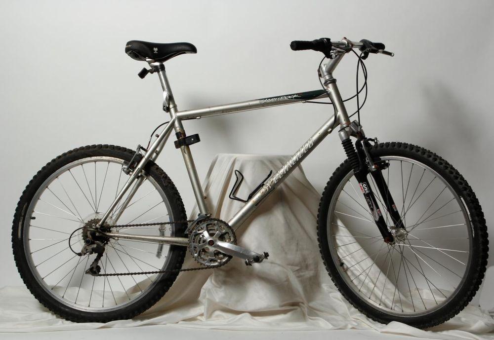 Gray Hardrock Rock Shox Specialized Aluminum Mountain Bike Bicycle 21 In Bicycle Bike Bicycle Bike