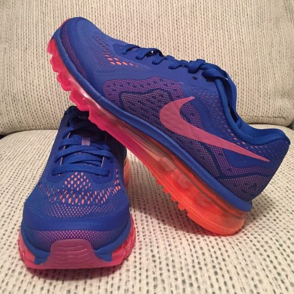 new product c2998 d89d2 Nike Air Max 2014 Nike Air Max in bluepinkorange. Straight from Nike in  original box (no lid) with label. Im listing two sizes (8 + 8.5). Nike  Shoes ...