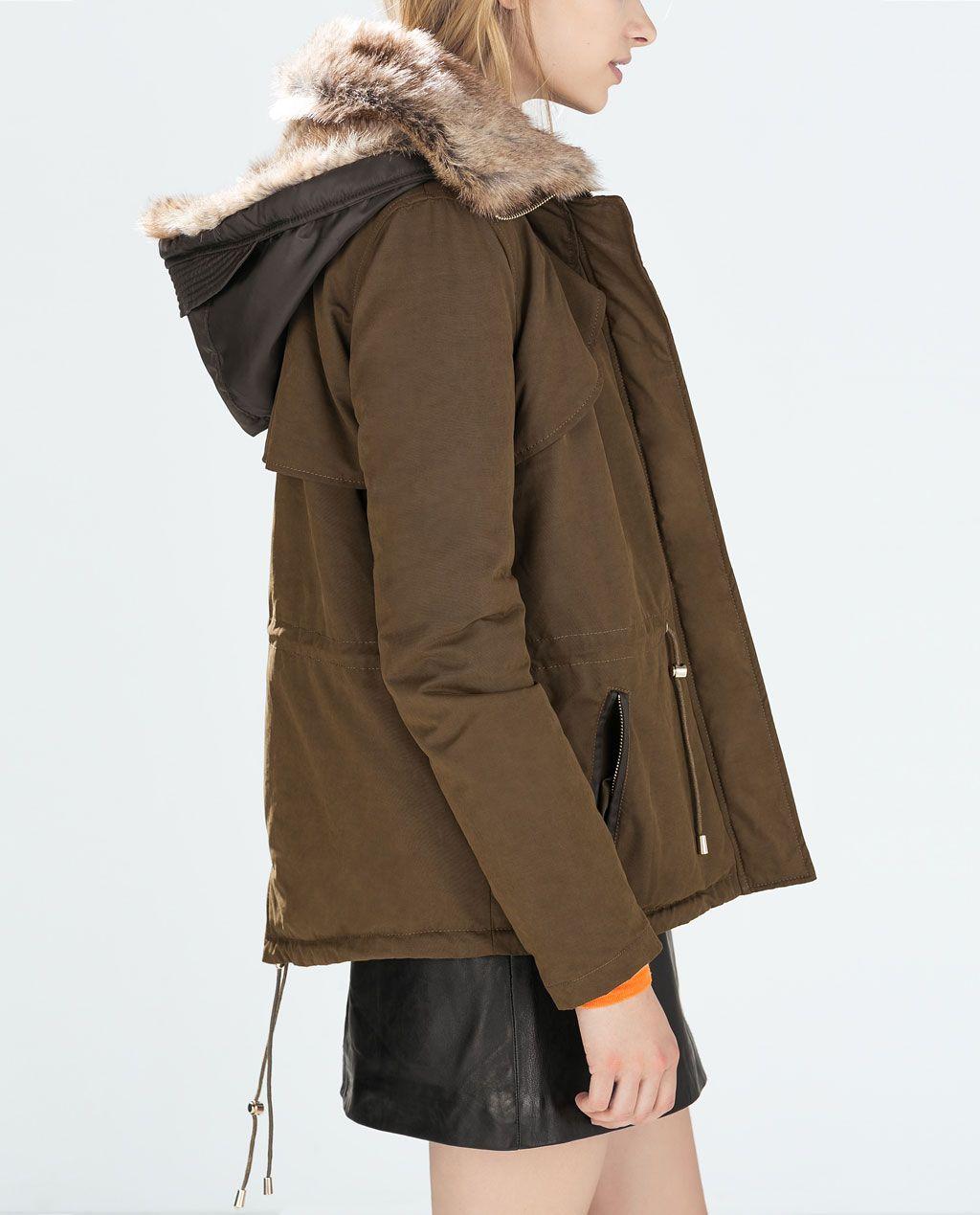 Mujeres Zara Pinterest Contraste Trf Parka Zara Shopping qw47ZCY