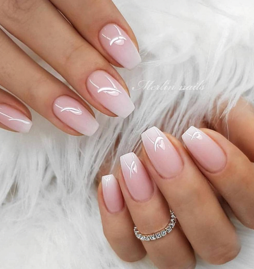 Pink Ombre Short Gel Square Nails Short Nails Design Short Nails Acrylic In 2020 Short Acrylic Nails Designs Mauve Nails Pink Ombre Nails