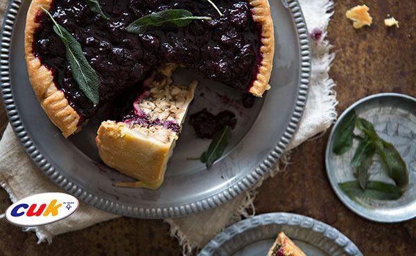 Receta de pastel de pollo CUK y arándanos