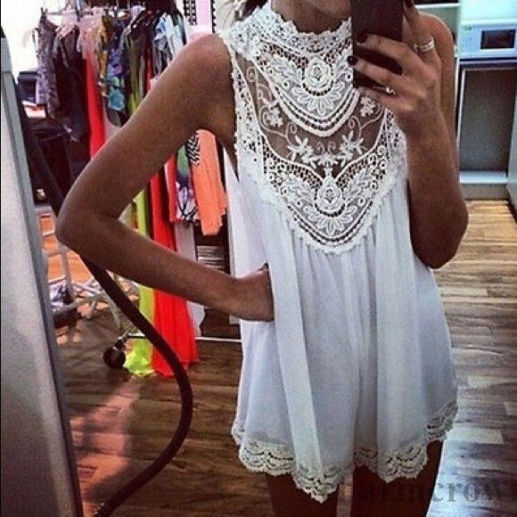 Cloud 9 Dresses & Skirts - Gorgeous ~ Boho Creme Ivory Tunic Mini
