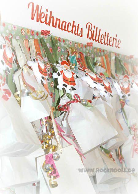 """Das """"Schneiderlein aus dem Schwabenländle"""" – sonst eher bekannt für die schönen Kinderanziehsachen auf Rockndoll.de – hat gleich seine eigene Weihnachtsbilletterie eröffnet; einen Adventskalender mit 2 x 24 Überraschungstütchen."""