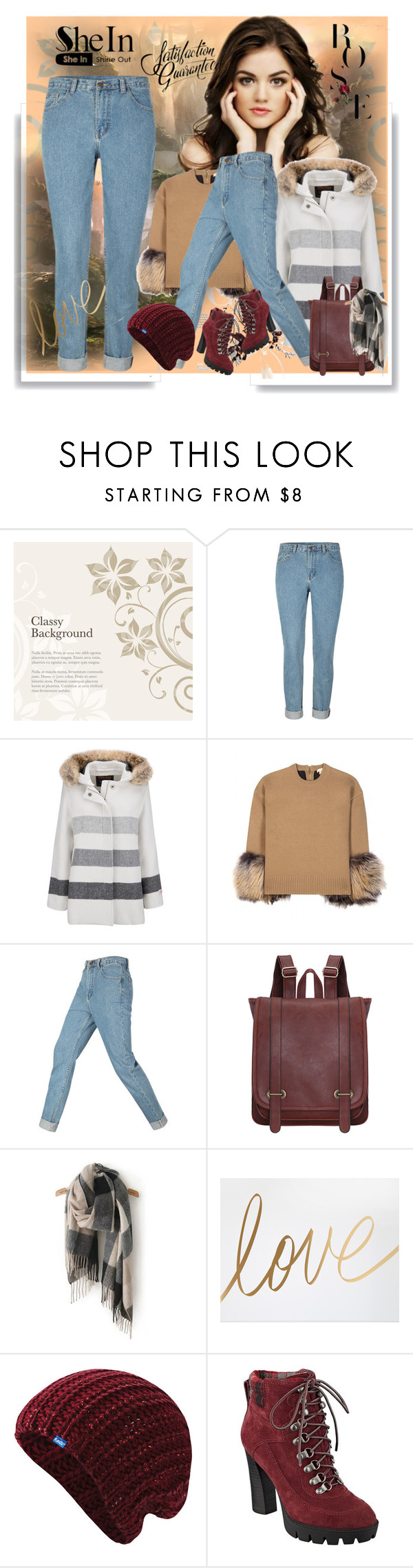 """Shein Denim Pants"" by lila2510 ❤ liked on Polyvore featuring Woolrich, Michael Kors, Keds and Nine West"