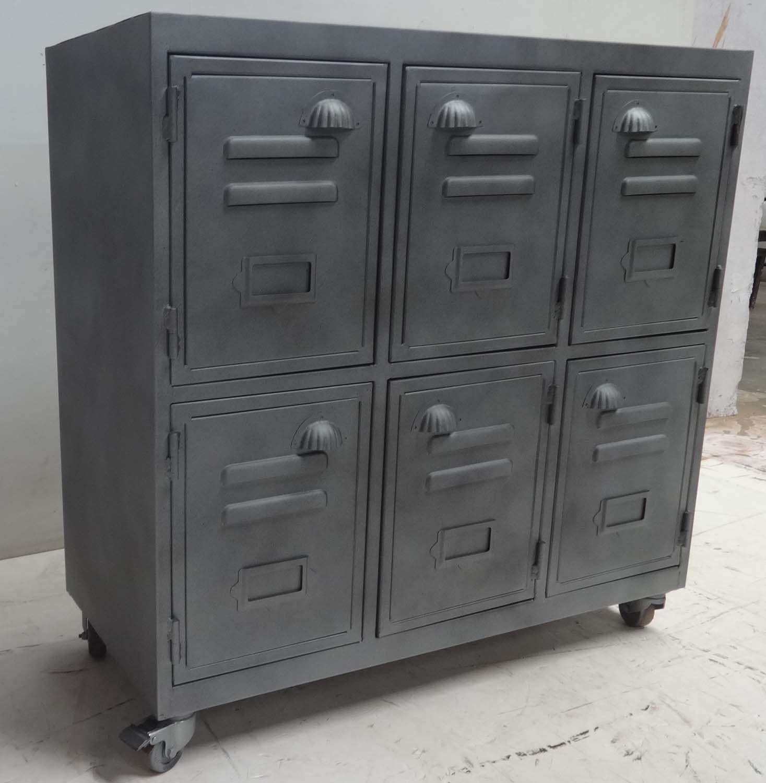 Vintage Industrial Metal Locker Cabinet Unique Vintage Piece Of