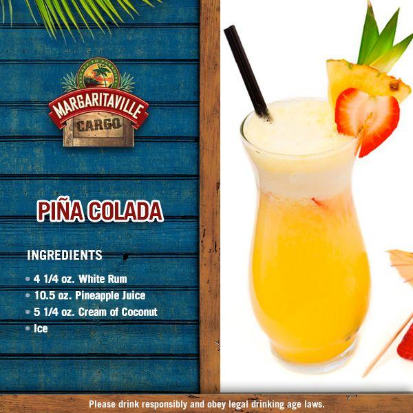 Margaritaville Frozen Concoction Maker Pina Colada Recipe