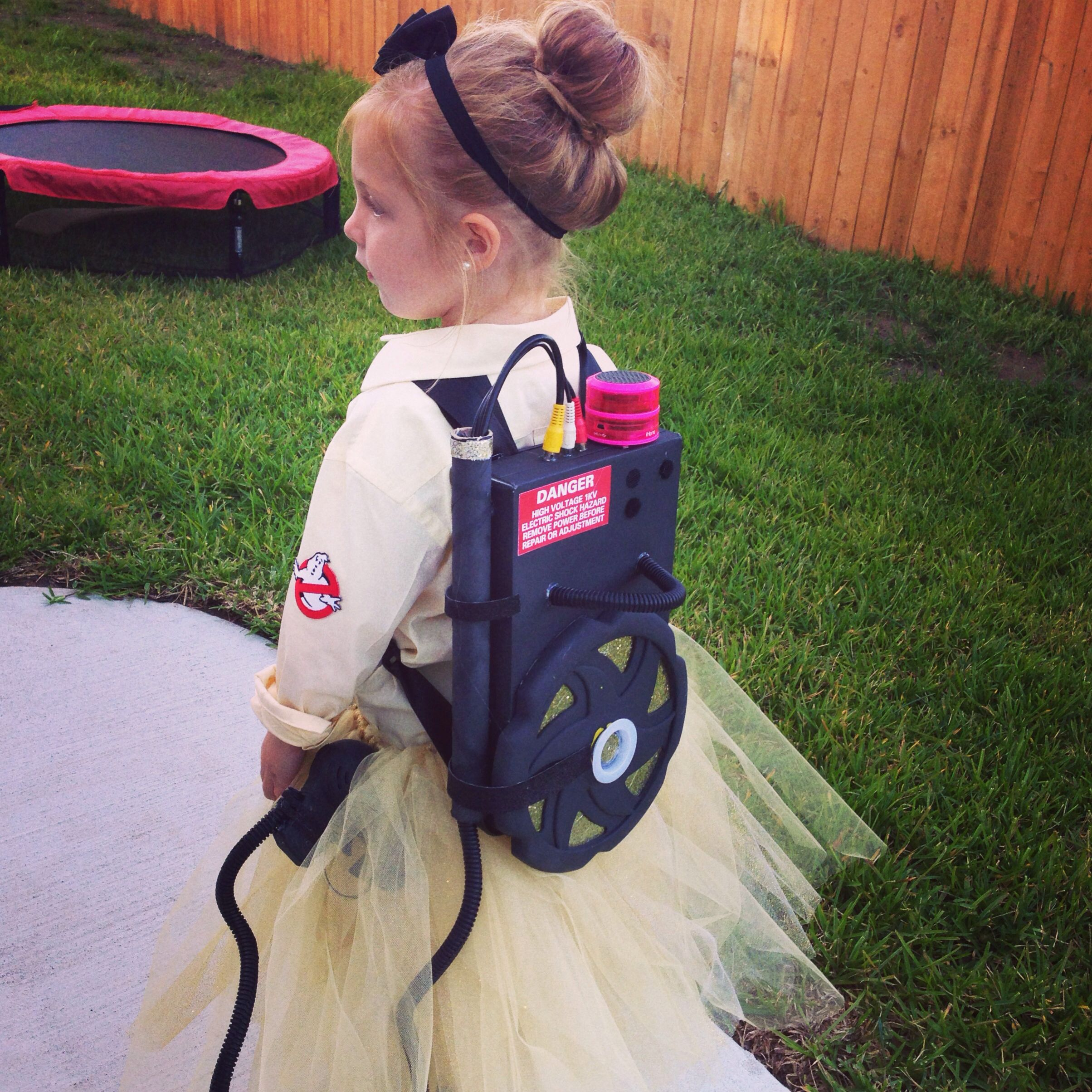Kids homemade costumes. Female and girls ghostbuster #halloween ...