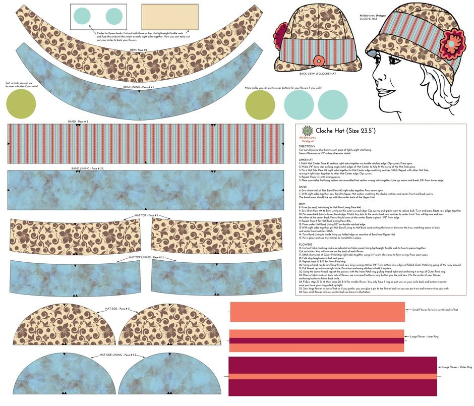 summer cloche hat pattern   top it off.... hats and such   Pinterest ...