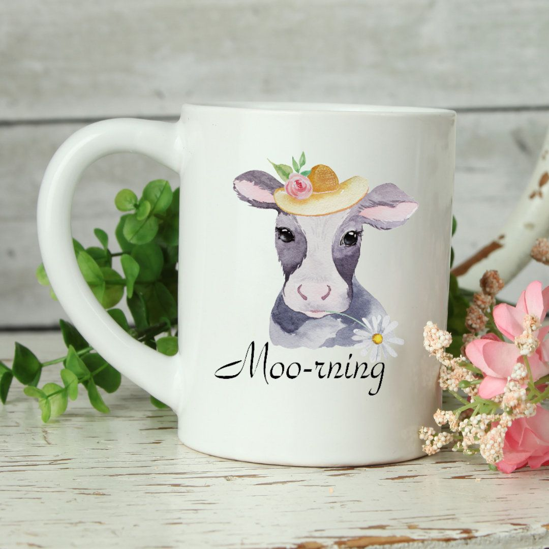 Moorning Cow, Cow Mug, Mother's Day Gift, Funny Mom Mugs