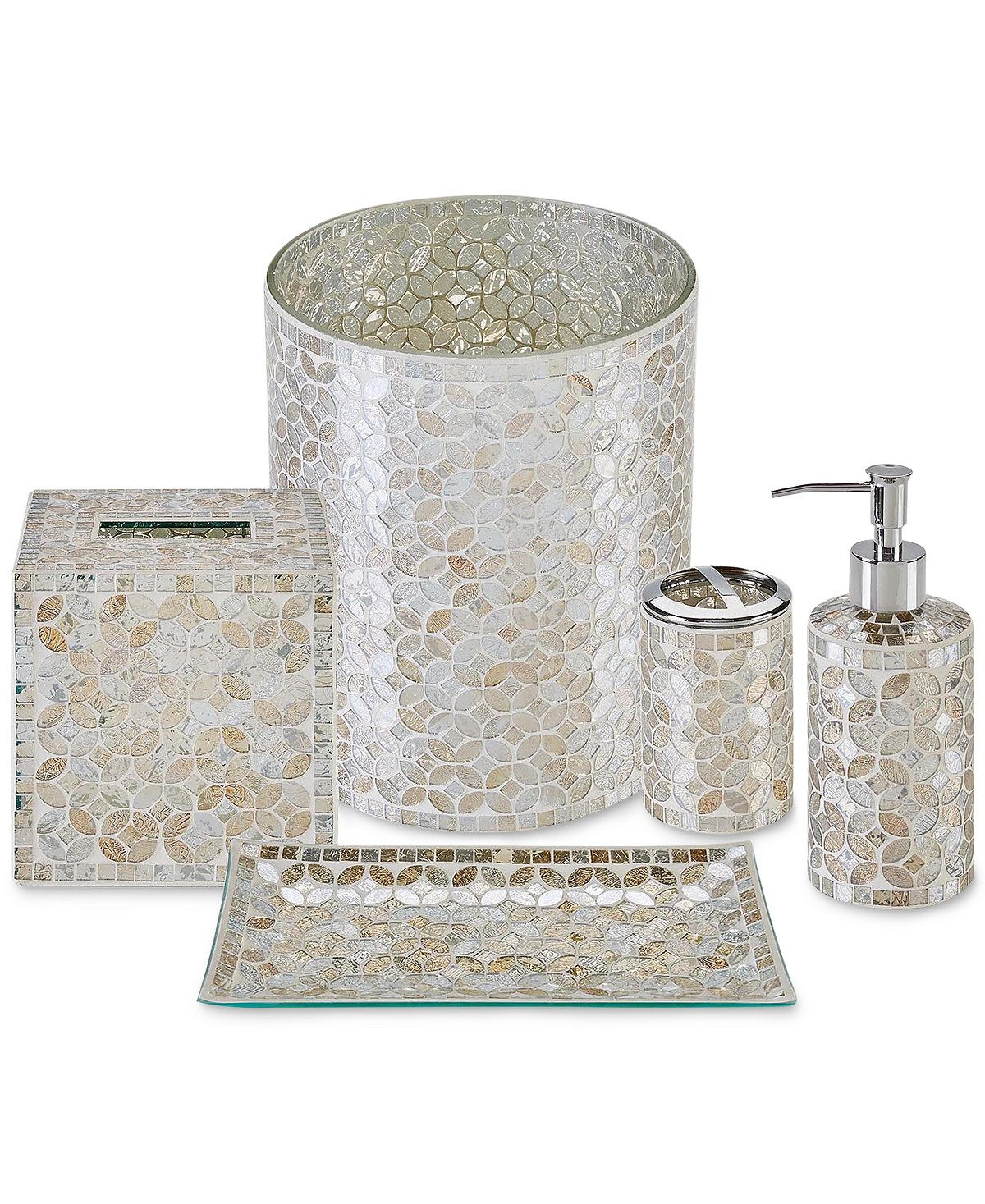 Jla Home Cape Mosaic Bath Accessories A Macy S Exclusive Style Bathroom Accessories Bed Bath Accessories Bathroom Accessories Gold Bathroom Accessories
