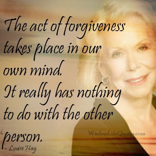 #Forgiving with the #mind is what impairers people from forgiving and forgetting. The mind does not and will not allow the matter to...