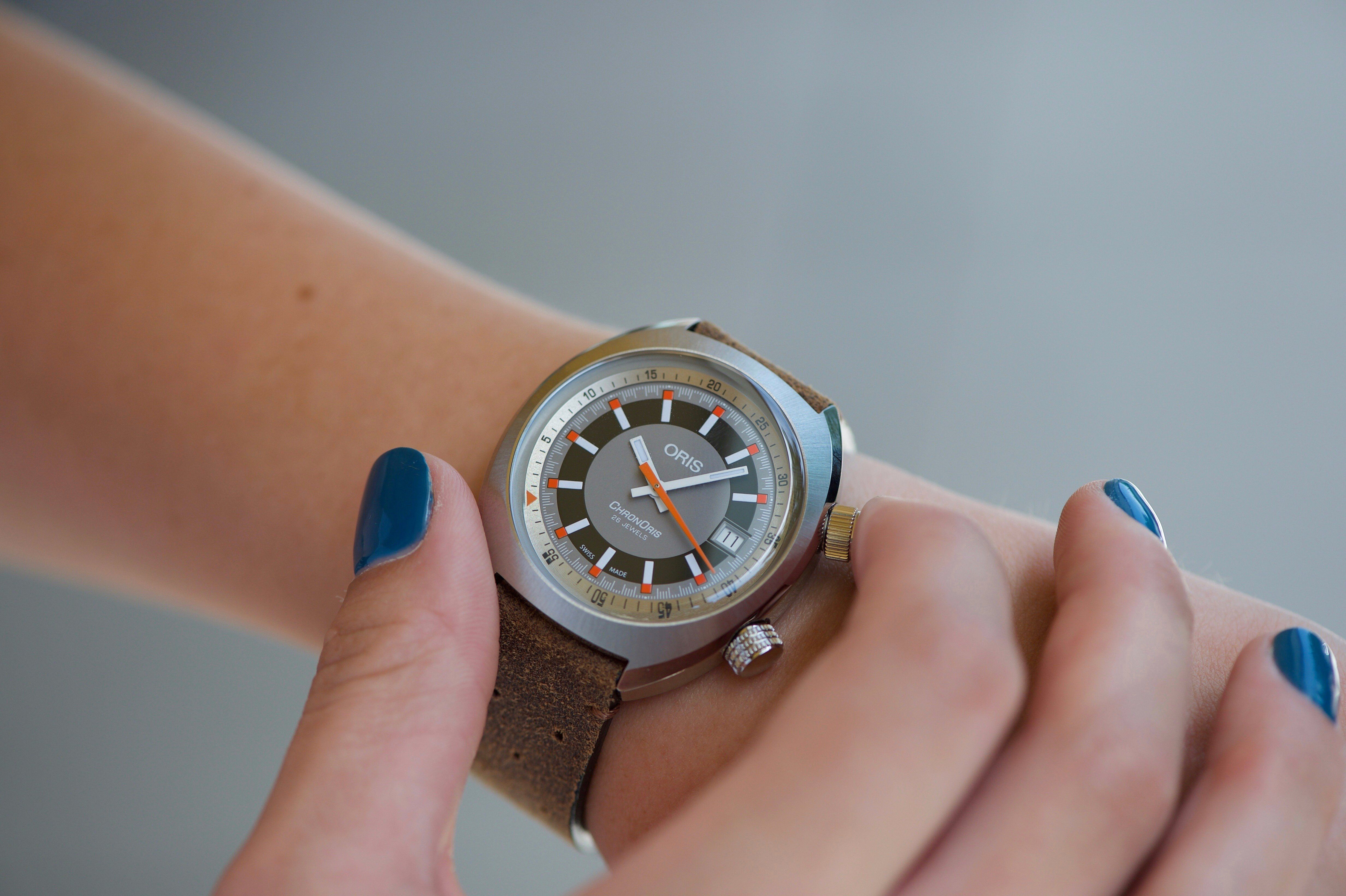 0de44ad59 Oris Chronoris Date, 39mm, Stainless Steel | Oris Watch | Stainless ...