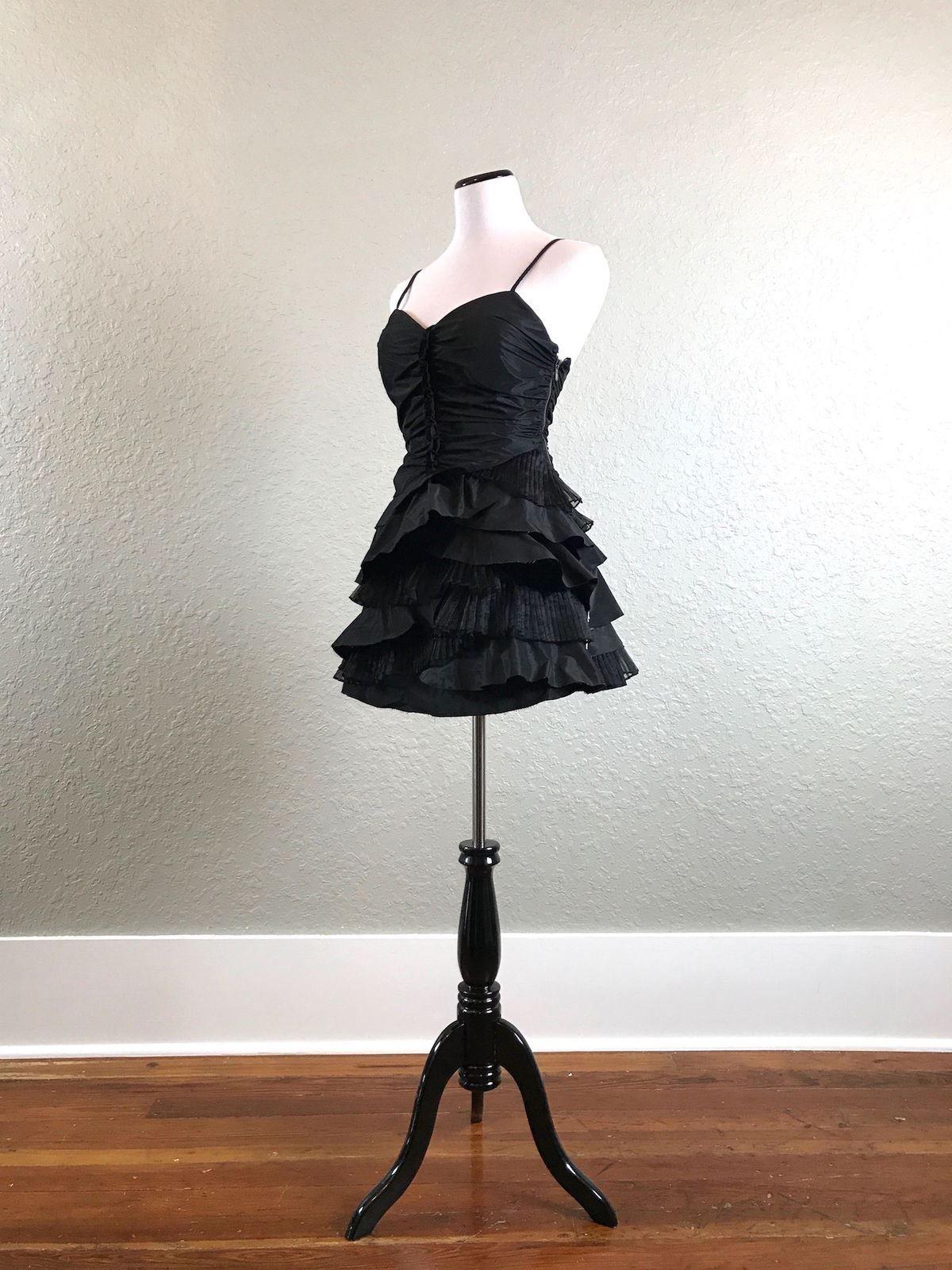 Nice great nwt forever mini ruffle dress size rock punk