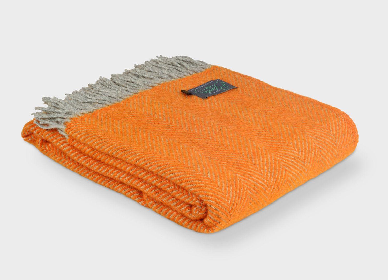 orange and grey herringbone throw  herringbone room and lofts - orange and grey herringbone throw