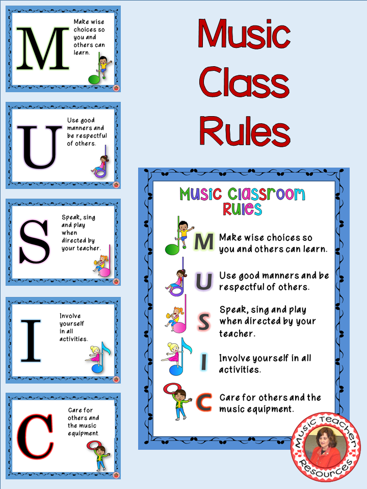 Music Decor: Class Rules EDITABLE Posters | Music classroom ...