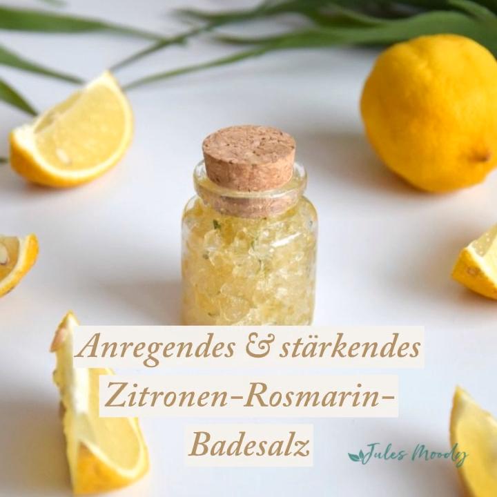 Photo of Stimulating & strengthening lemon-rosemary bath salt