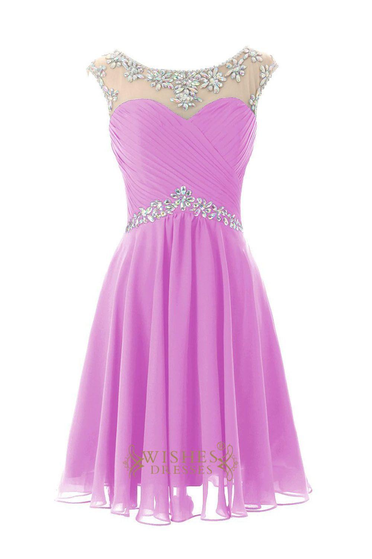 Sexy royal blue chiffon short cocktail dress prom dress