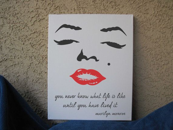 16 x 20 Choice of Marilyn Monroe Quotes Hand Painted Wall Art Canvas  Typography Good.