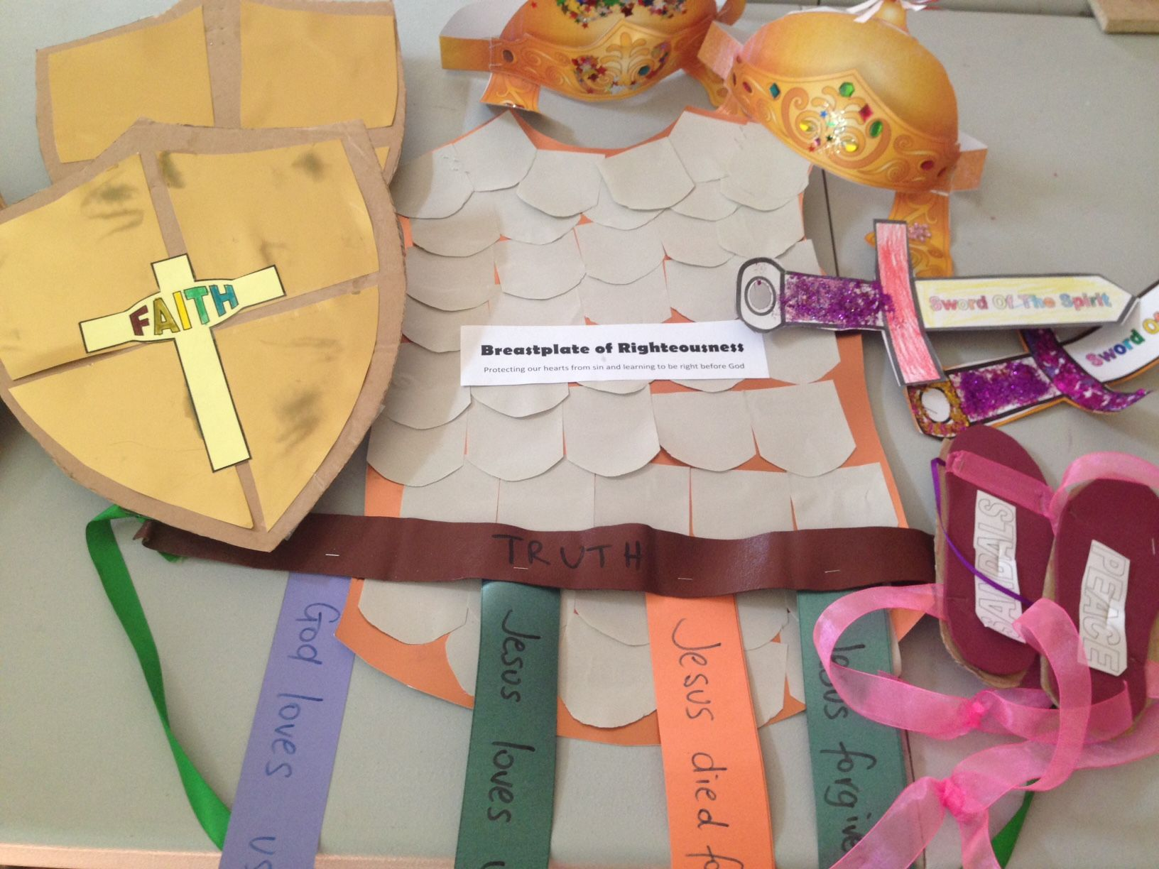 Breastplate Of Righteousness Sunday School Craft