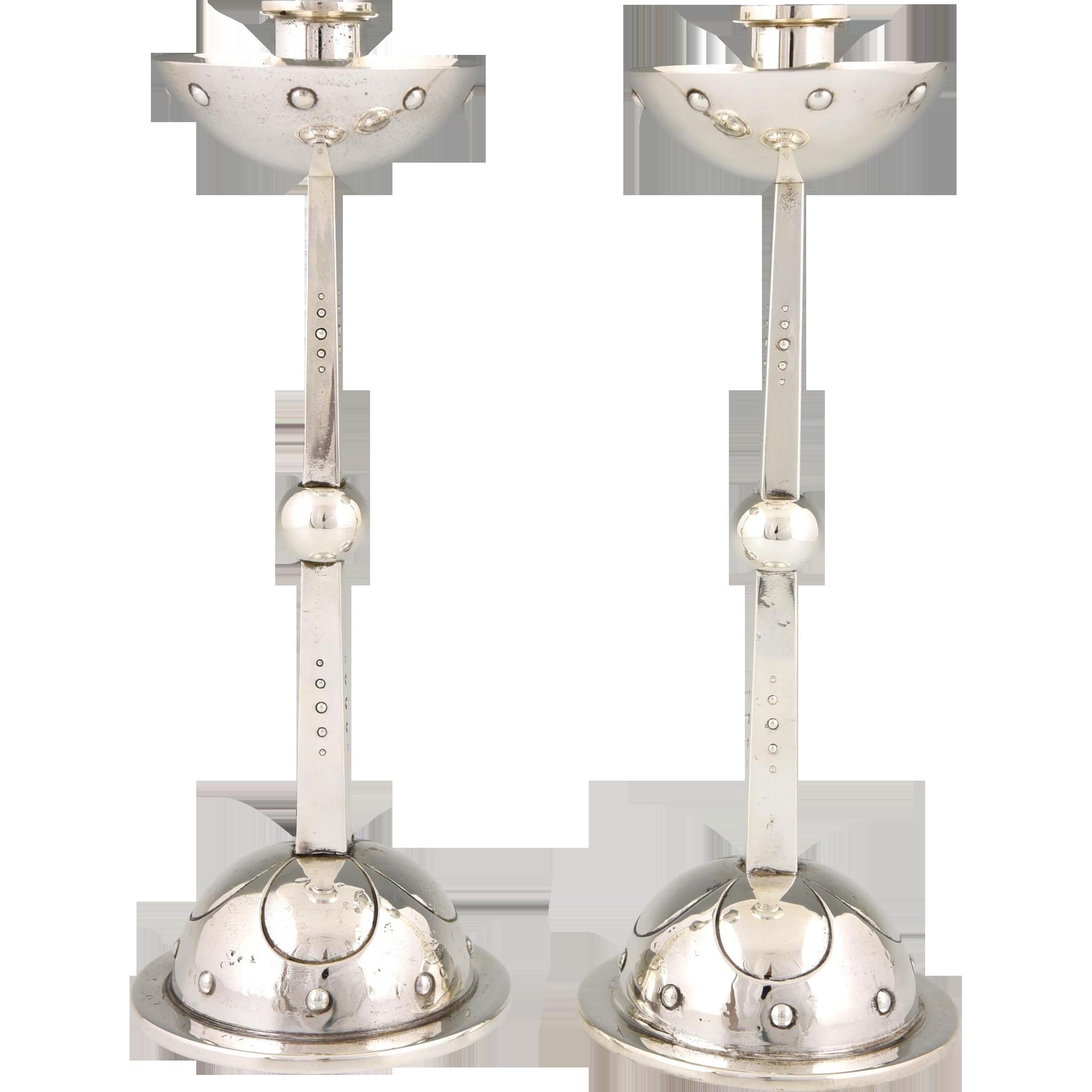 Original Art Nouveau candlesticks by WMF 1910 Germany @shoprubylux #Deconamic #20thCentury