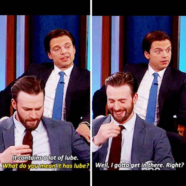 Their faces! Sebastian Stan & Chris Evans