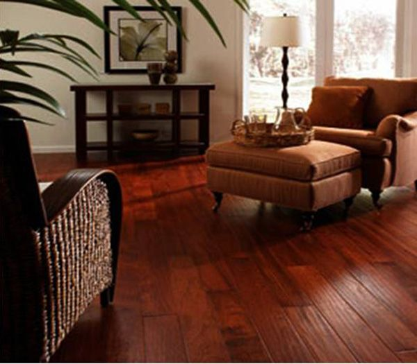 image brazilian cherry handscraped hardwood flooring. \ Image Brazilian Cherry Handscraped Hardwood Flooring