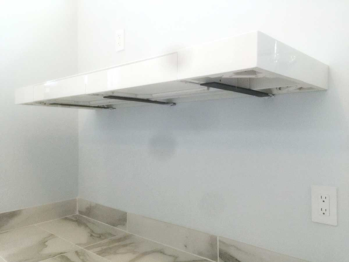 Floating Surface Adjustable Bracket Floating Countertop