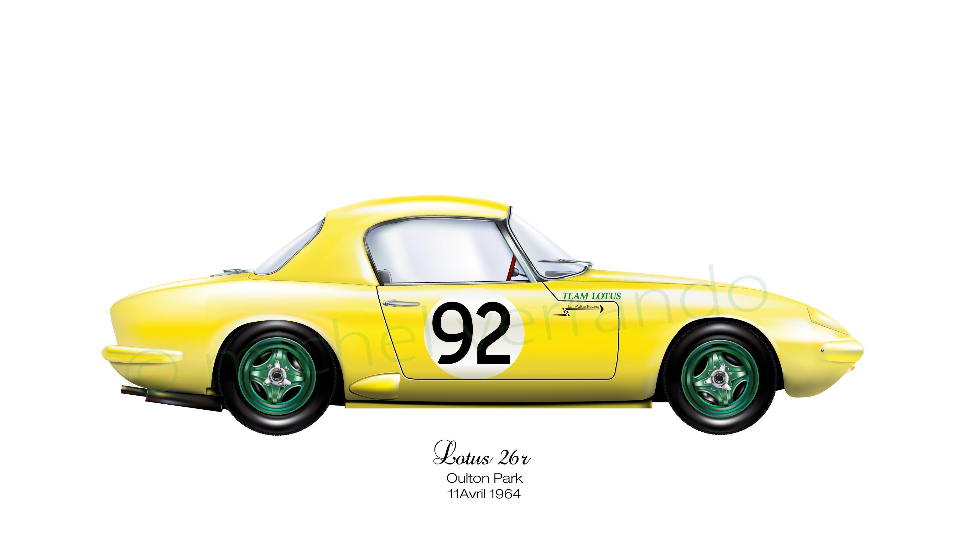 lotus 26r elan oulton park 1964 lotus cars pinterest lotus lotus elan and grand prix. Black Bedroom Furniture Sets. Home Design Ideas