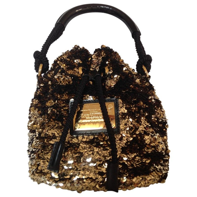 d71dd4519ce gold Glitter LOUIS VUITTON Handbag - Vestiaire Collective