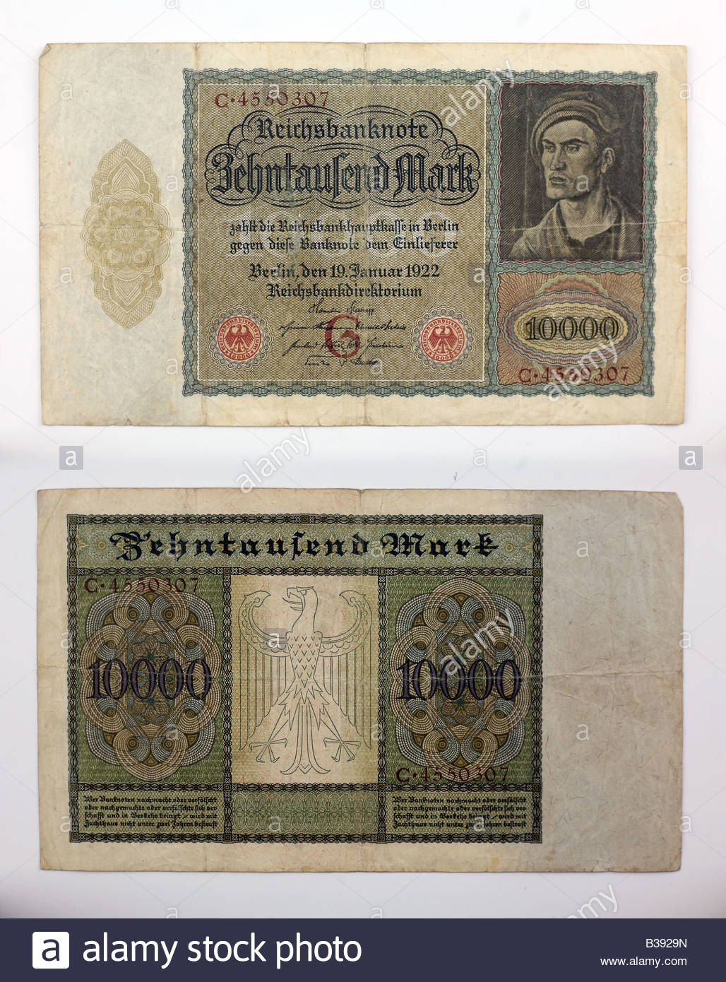 1922 German 10000 Mark - Vampire Note