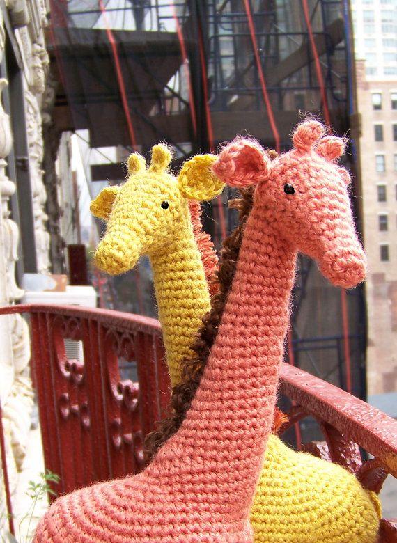 Crochet Giraffe Pattern-Instant Download Crochet Pattern-Toy Giraffe Pattern-Amigurumi Giraffe-DIY Crochet Toy-Stuffed Toy Animals #giraffepattern