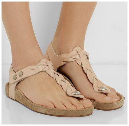 e734a15388a3 Isabel Marant Brook Braided Leather Sandals in blush nude pink Birkenstock  のサンダル