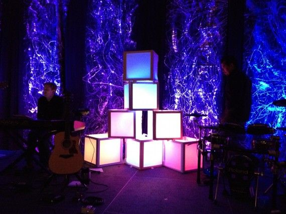 Cube Light Stage Design Church Ideas Stage Design