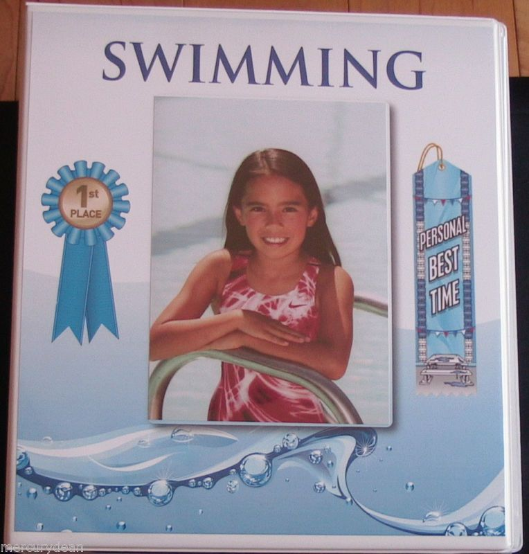 Details About Swimming Ribbon Organizer 15 Pages Sheets Album
