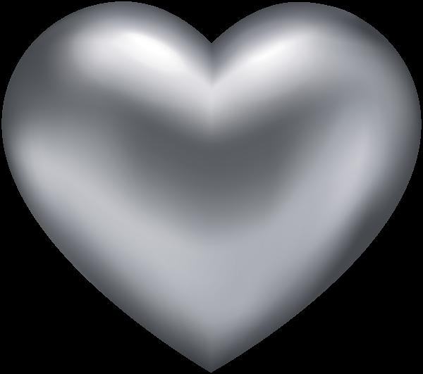 Silver Heart Przejrzyste Png Clip Art Heart Clip Art Heart Wallpaper Clip Art