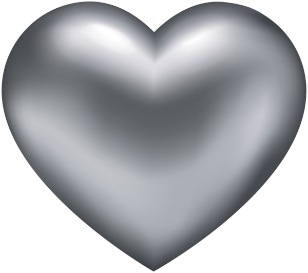 Silver Heart Transparent PNG Clip Art Heart clip art