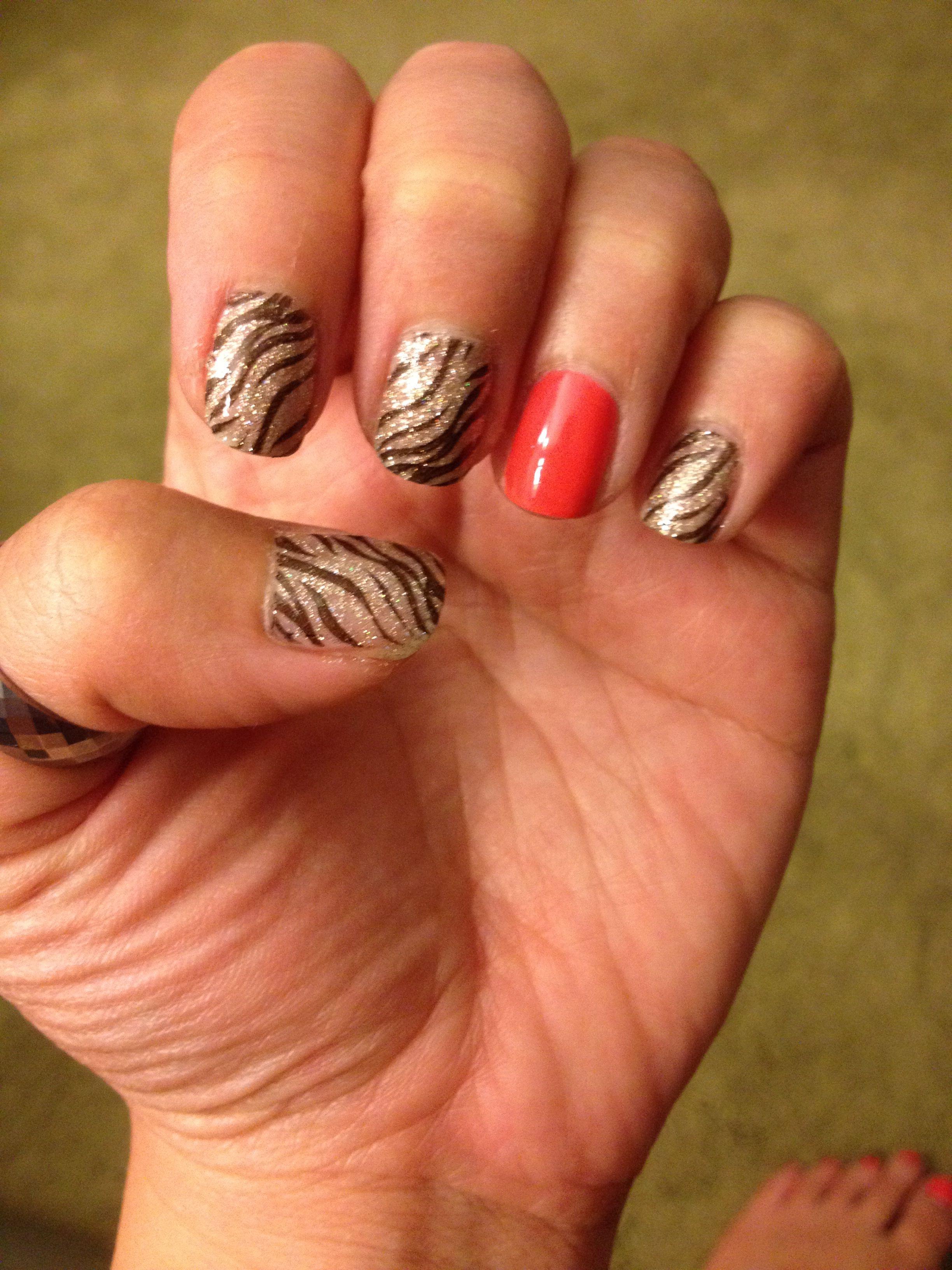 China glaze ium not lion and opi modern girl nail art konad stamp