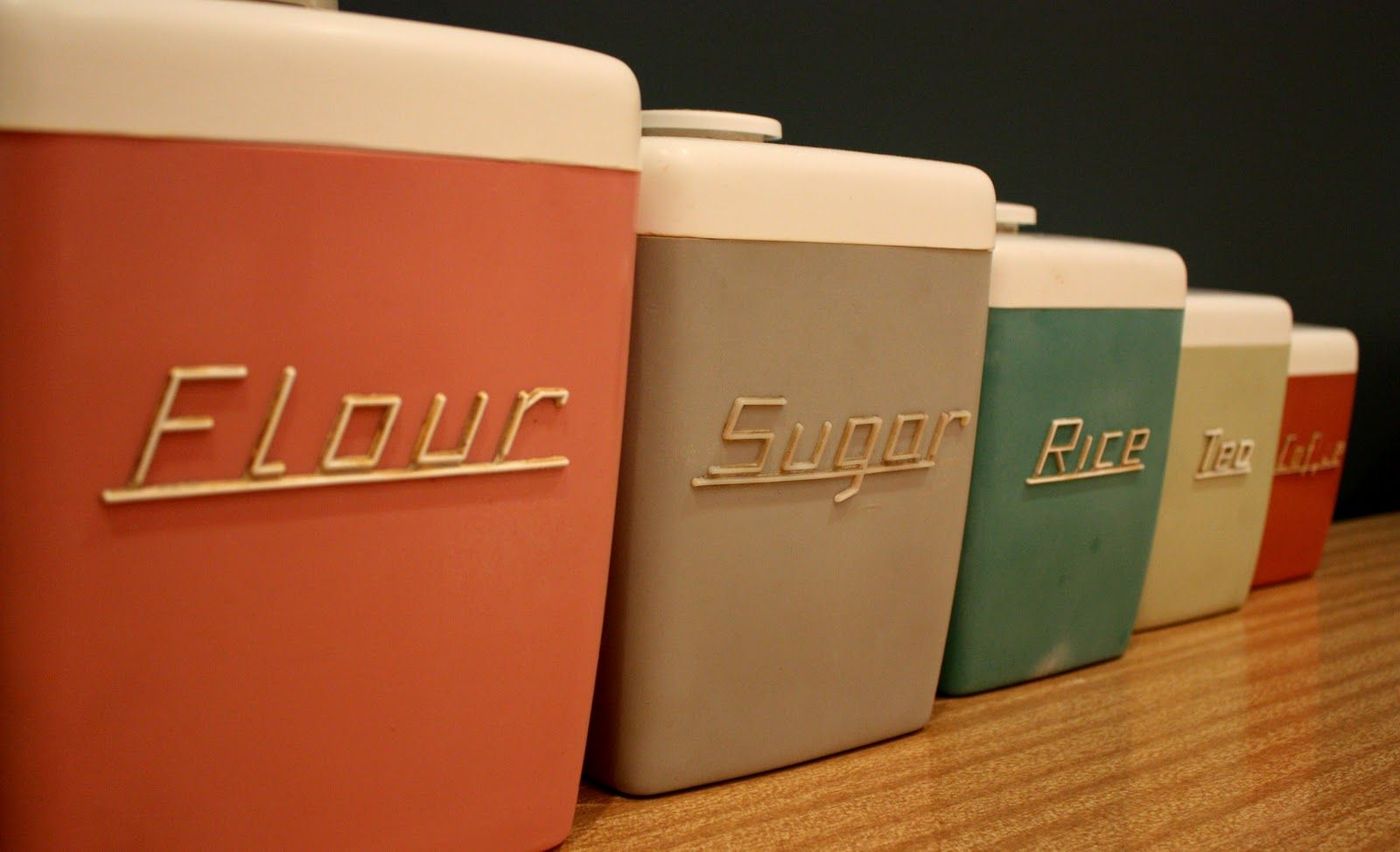 Retro Kitchen Canisters 17 Best Images About 1950s Kitchens On Pinterest