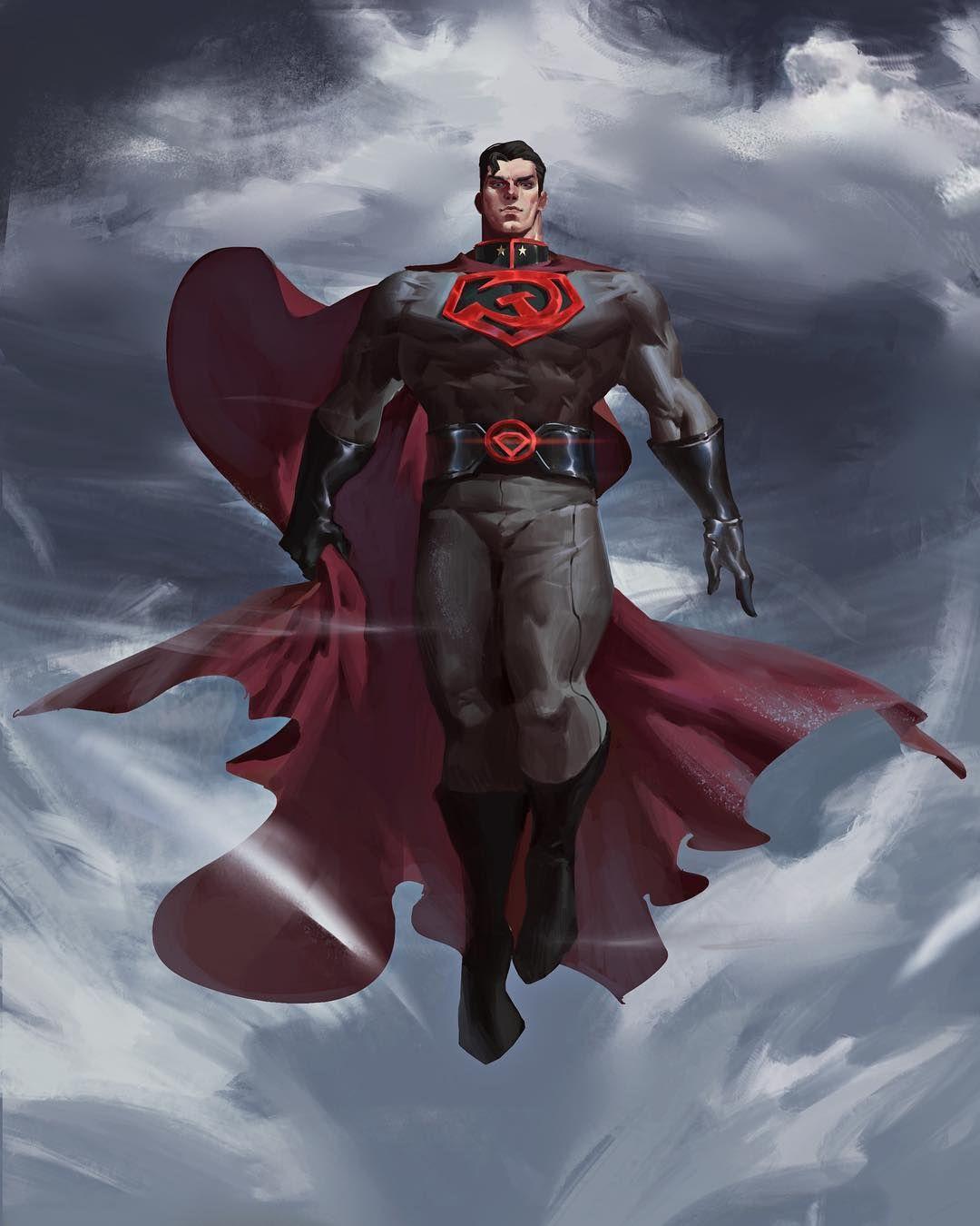 By Peng Nanfeng Superman Redson Dc Dccomics Personagens Literarios Superhomem Herois De Quadrinhos
