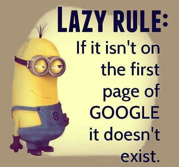 Funny Minion Quotes About School: Minion Fun __________ If It Isnr On The First Page Of