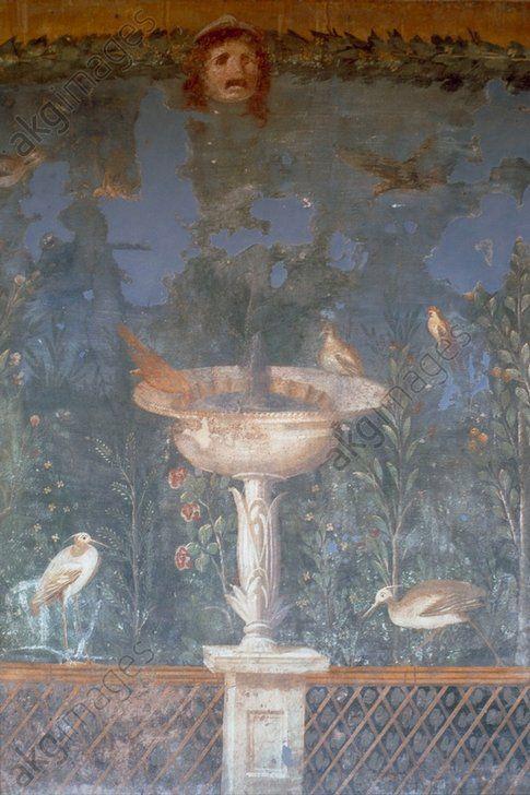 Oiseaux Dans 1 Jardin Peint Murale Rom Peinture Murale