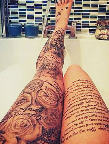 I like the placement of these tattoo pinterest for Leg sleeve tattoo girl