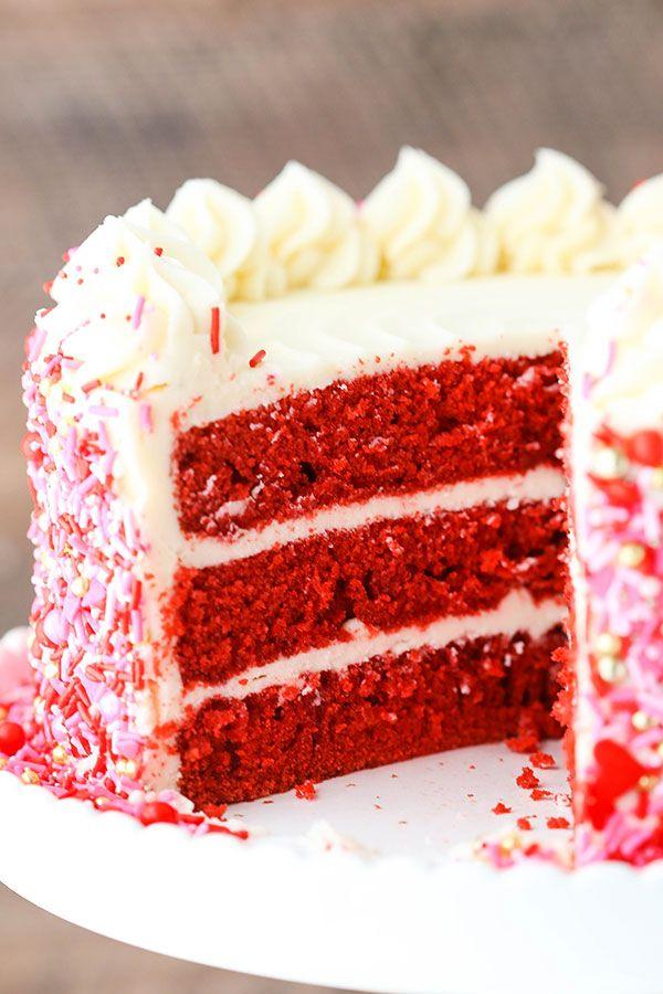Red Velvet Layer Cake Red velvet Cream cheeses and Frostings