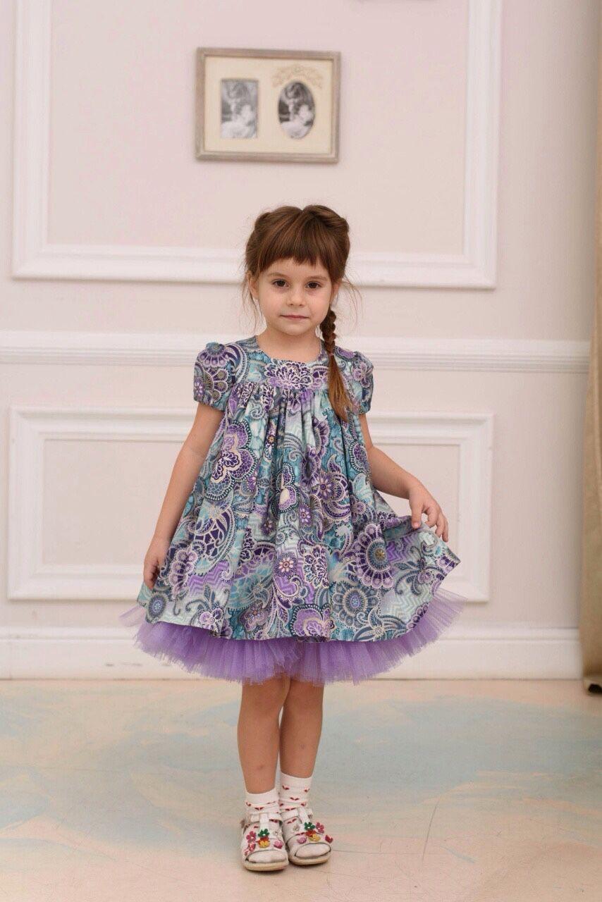 0898ab64c4455fc Купить Сиреневые сновидения. Нарядное платье для девочки. - сиреневый…