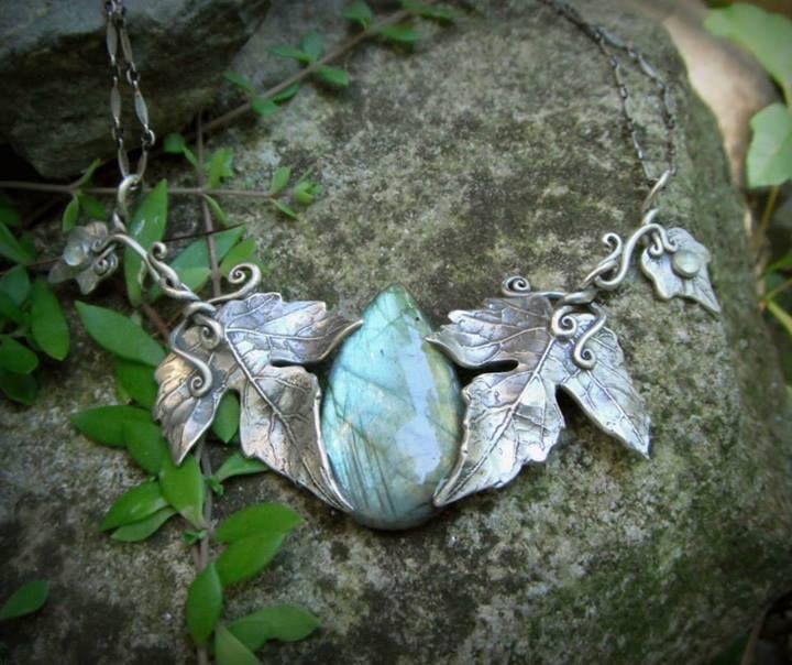 Siver and Labradorite necklace #elf #mori #preraphaelite