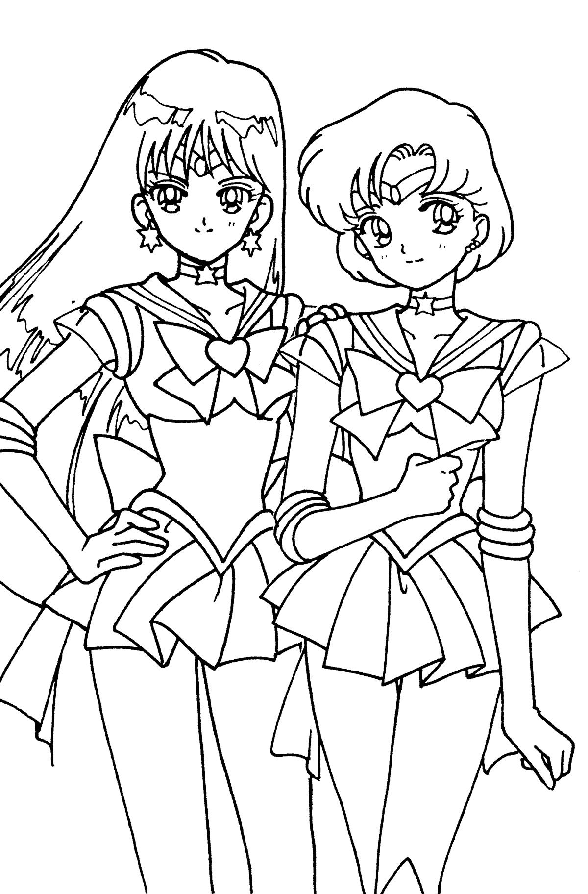 duos024.jpg (1200×1824) | COLORING PAGES :) | Pinterest | Sailor mars