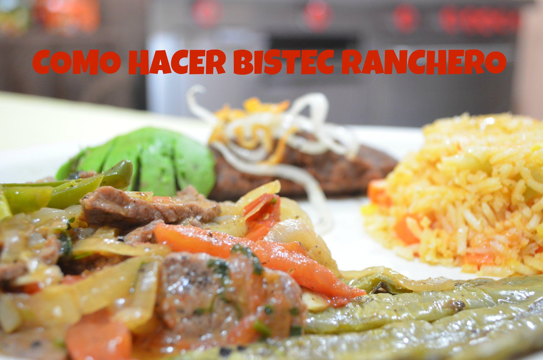CHUCHEMAN -Recetas mexicanas como hacer bistec ranchero en wok