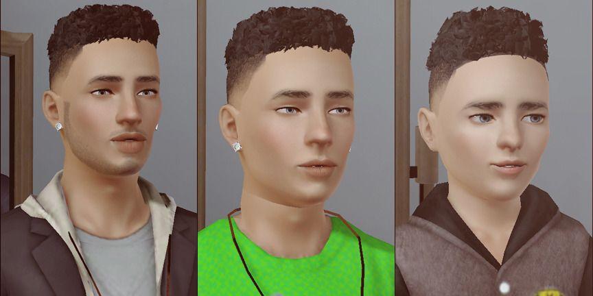 Chunkysims Hightop Curls Fade Sims Hair Sims Sims 3 Male Hair